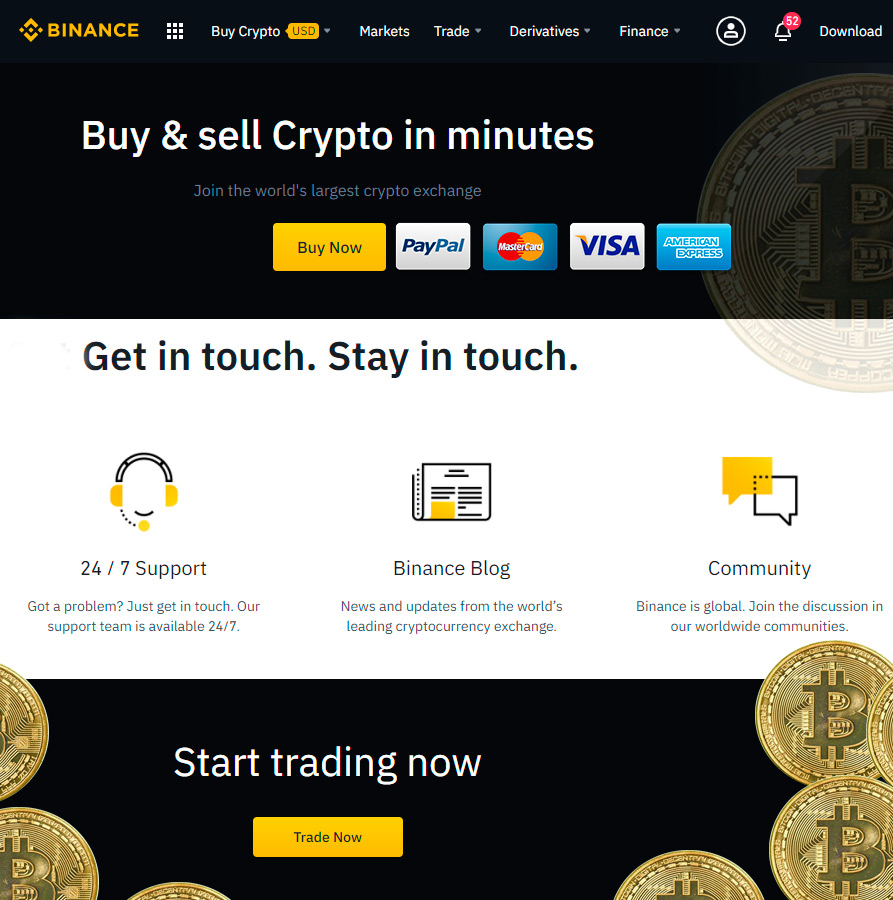 Cryptorio - cryptocurrency Cardano trading Binance dashboard html template nulled